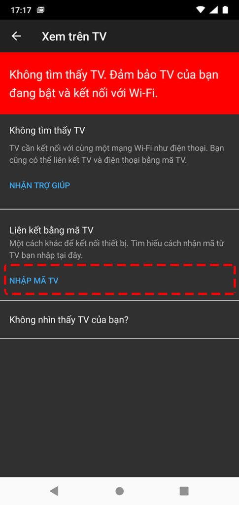 Màn hình cài đặt Youtube trên điện thoại android