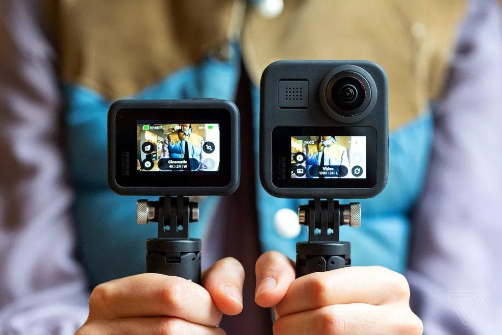 GoPro Max có thiết kế tương tự Hero 8, nhưng rõ ràng lớn hơn