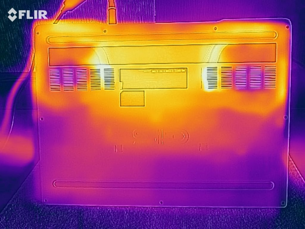 Đo nhiệt độ mặt dưới Dell G5 15 5590