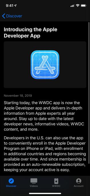 Apple ra mắt ứng dụng Apple Developer