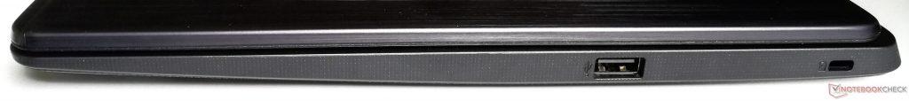 Phía bên tay phải: USB 2.0 Loại A, khe khóa Kensington