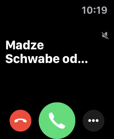 Giao diện tính năng điện thoại Apple Watch Series 5