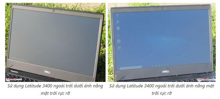Dell Latitude 3400 sử dụng dưới nắng