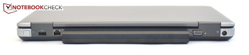 Mặt sau Dell Latitude E6540: USB 3.0, Gigabit-LAN, VGA, Nguồn