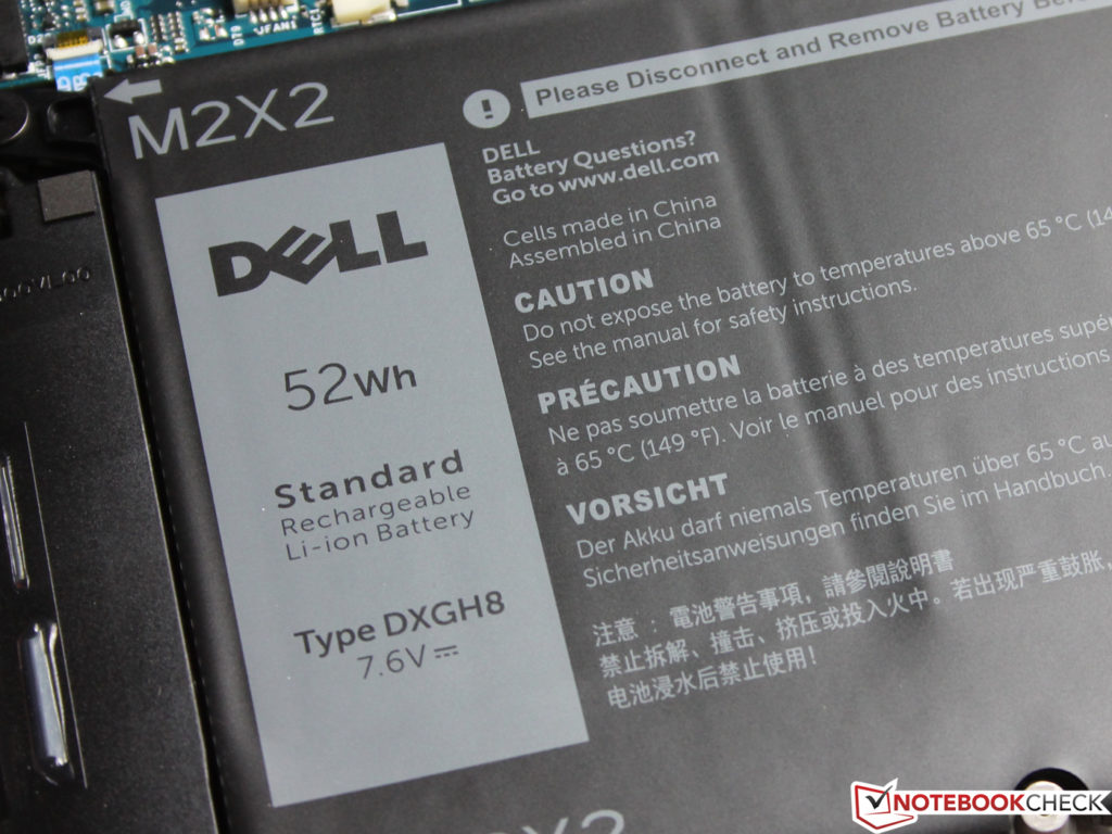 Pin 52Wh của Dell XPS 13 9380 - 2019