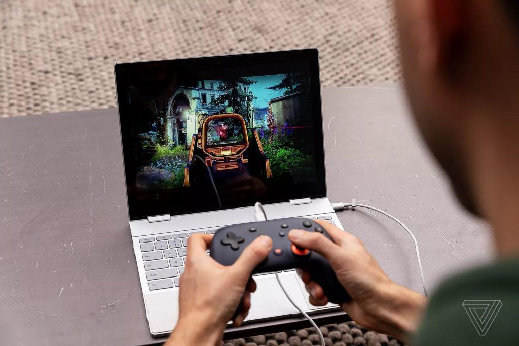 Google Stadia chạy với laptop văn phòng