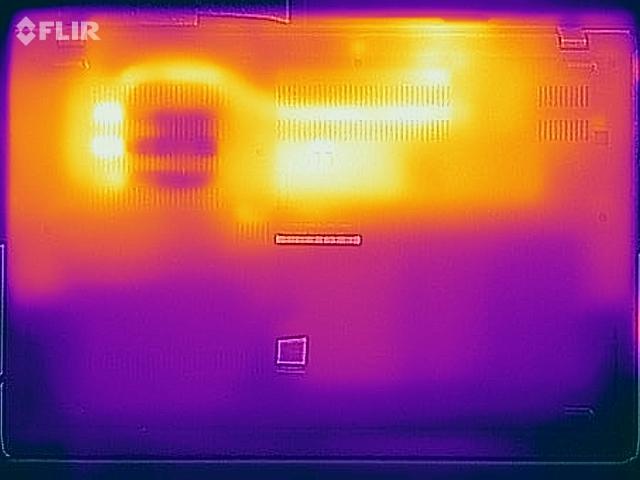 Do nhiệt độ mặt dưới Lenovo ThinkPad L590