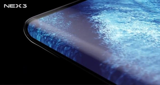 Vivo NEX3 với màn hình thác nước - Image source: vivo