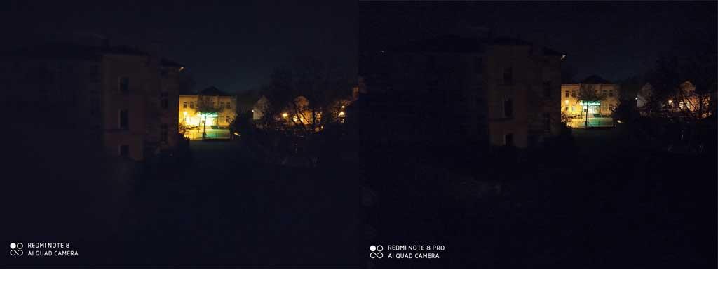 So sánh ảnh chụp trong điều kiện thiếu sáng