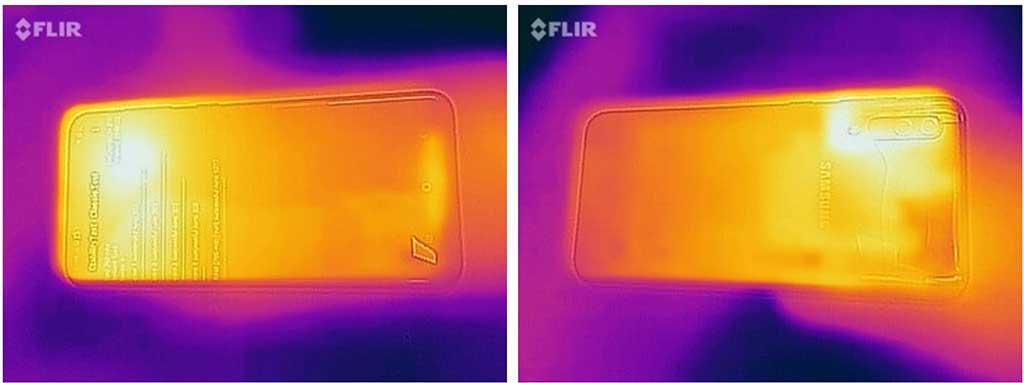 Ảnh nhiệt bề mặt Samsung Galaxy A50