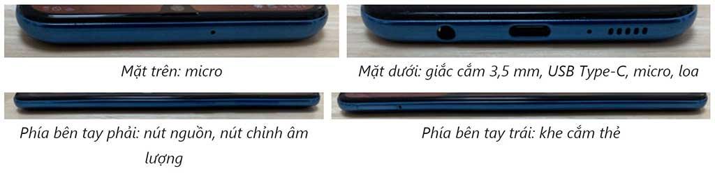 Cổng kết nối trên Samsung Galaxy A50
