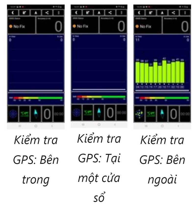 Kiểm tra cường độ tín hiệu GPS trên Samsung Galaxy A50