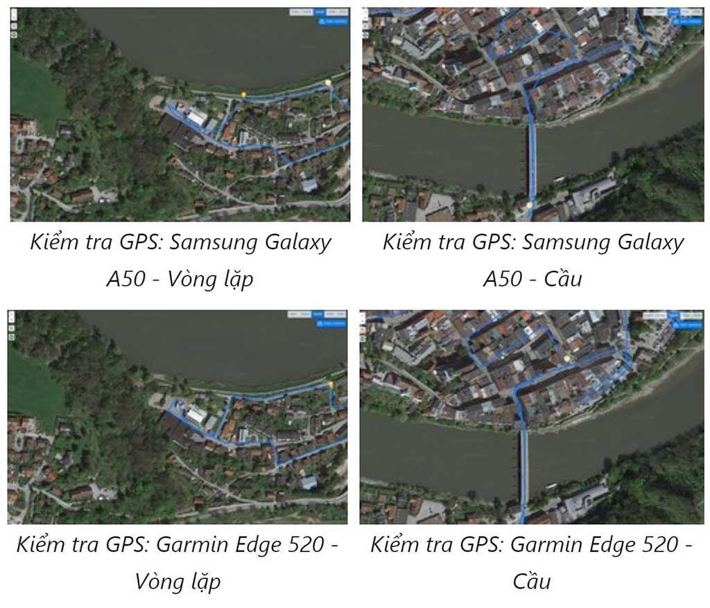Thử nghiệm định vị GPS với xe đạp Galaxy A50