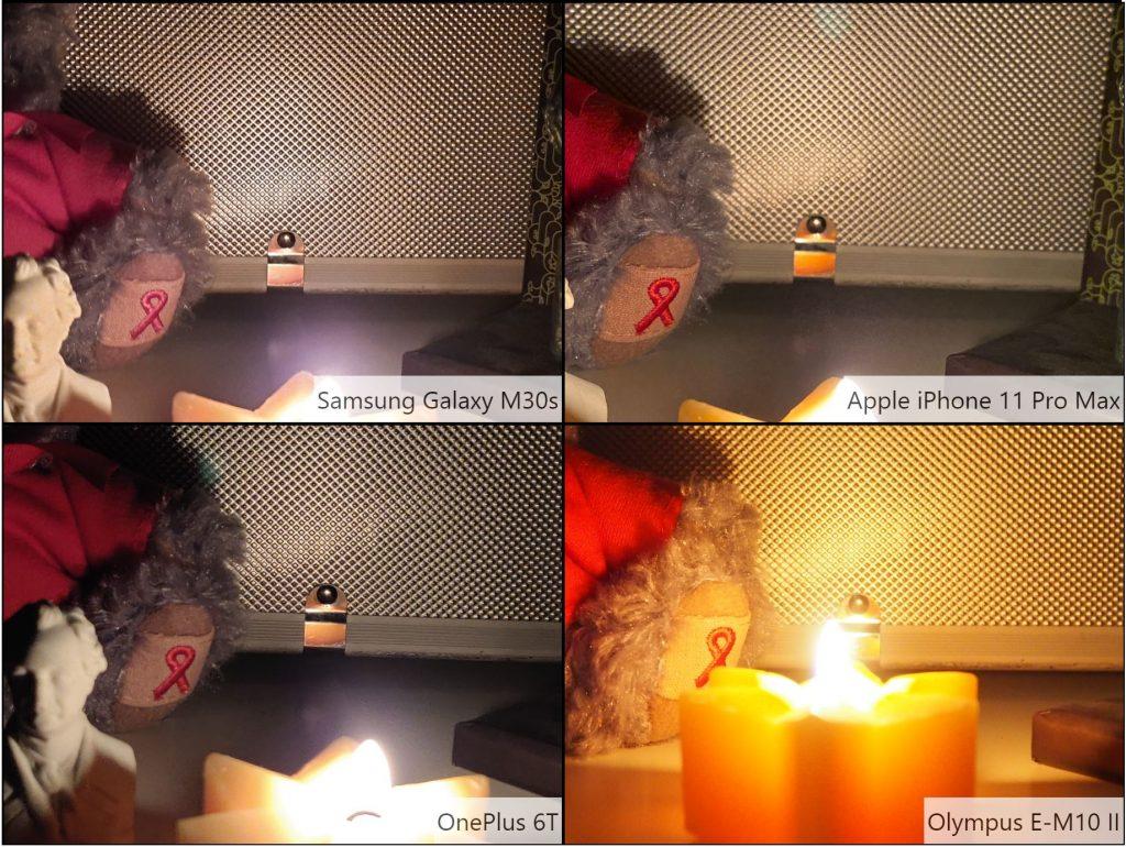 So sánh ảnh chụp Samsung Galaxy M30s trong điều kiện thiếu sáng