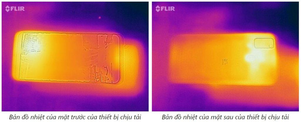 Ảnh nhiệt bề mặt hoạt động Samsung Galaxy M30s