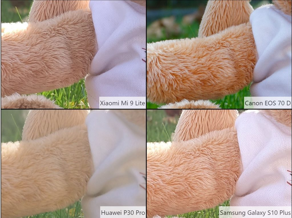 So sánh hình ảnh Xiaomi Mi 9 Lite