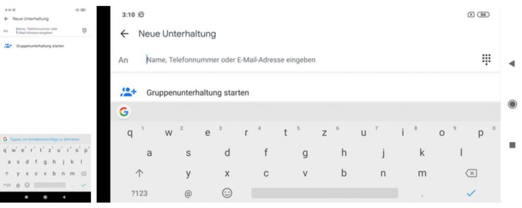 Xiaomi Mi 9 Lite sử dụng bàn phím mặc định của Google