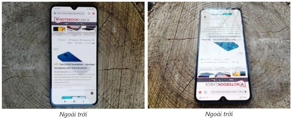 Khả năng hiển thị ngoài trời của Xiaomi Mi 9 Lite