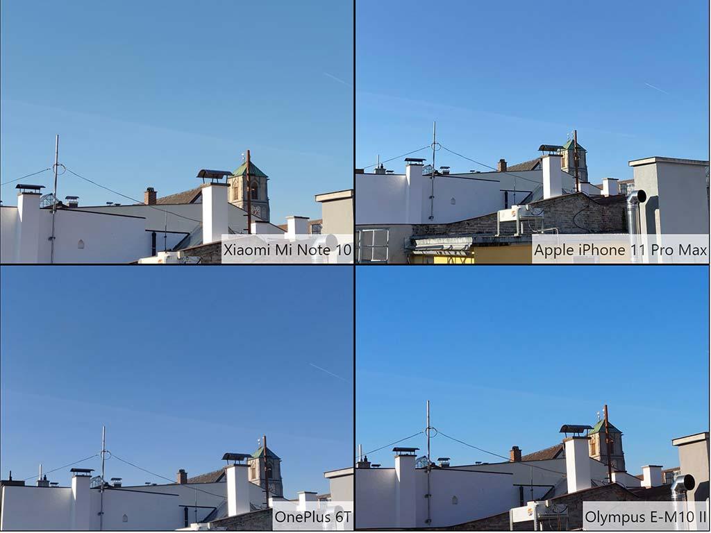 So sánh ảnh chụp Xiaomi Mi Note 10