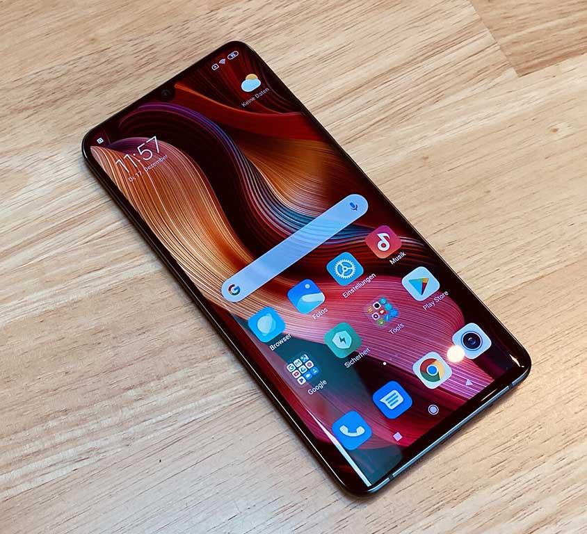 Thiết kế mặt trước Xiaomi Mi Note 10