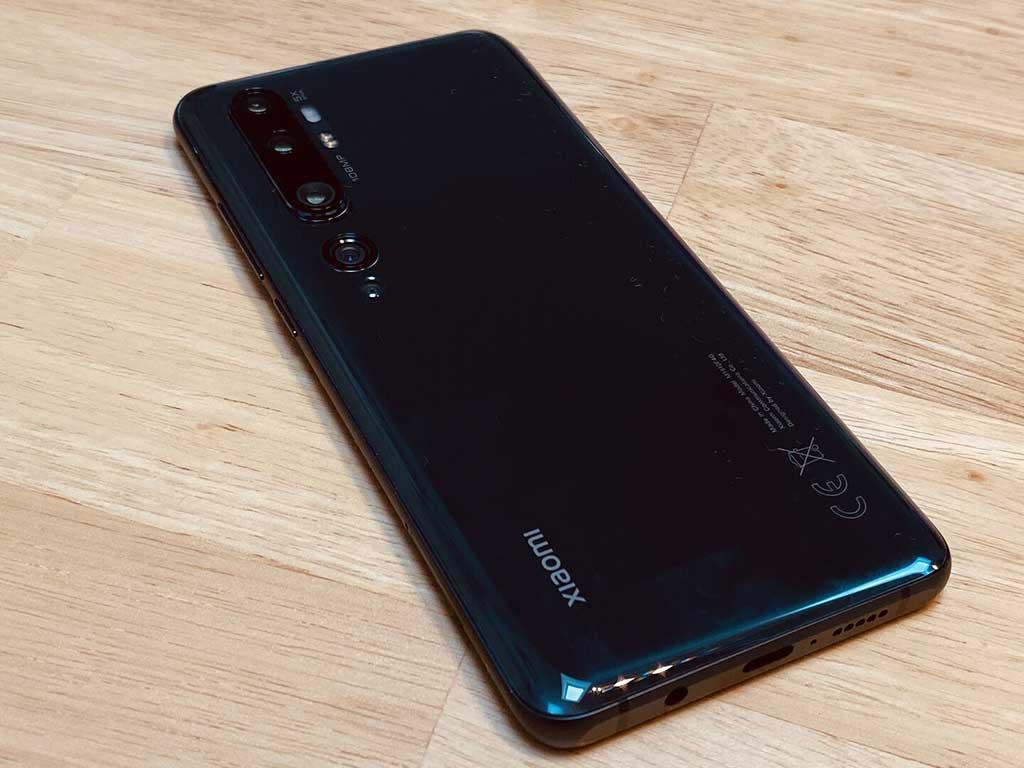 Thiết kế mặt lưng Xiaomi Mi Note 10