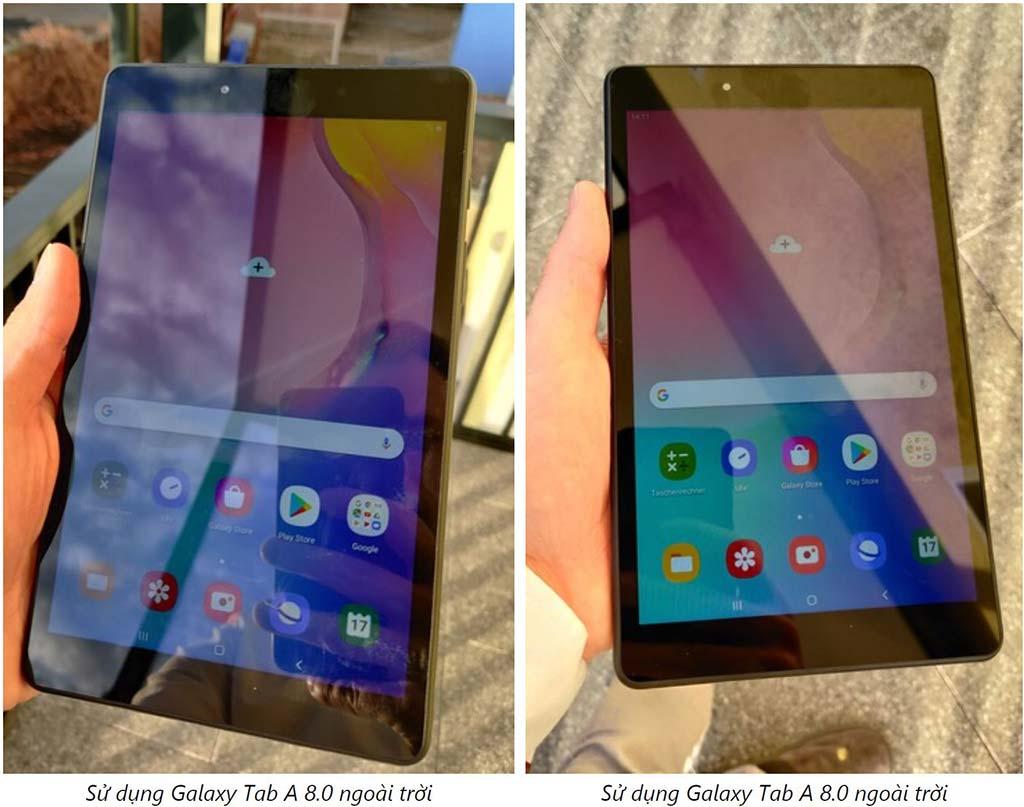 Khả năng hiển thị ngoài trời của Samsung Galaxy Tab A8.0 (2019)