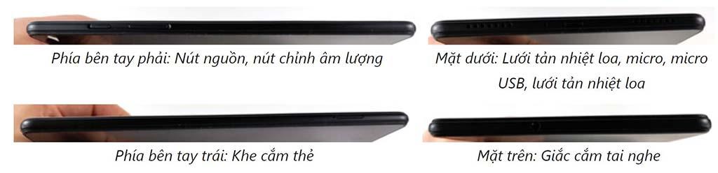 Cổng kết nối Samsung Galaxy Tab A8.0 (2019)