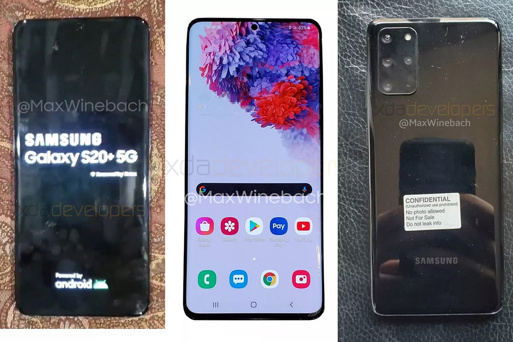 Xuất hiện ảnh thực tế của Samsung Galaxy S20+ 5G
