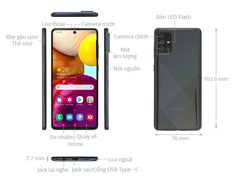 Cổng kết nối Samsung Galaxy A71