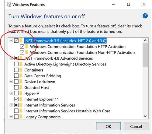 Hướng dẫn cài đặt Net Framework trên Win 10 tự động không cần tải file về