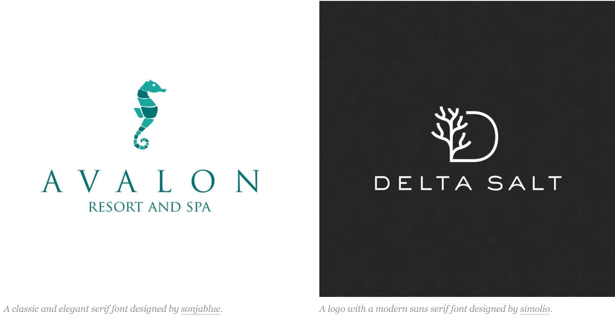 Chọn kiểu chữ - font chữ trong thiết kế logo