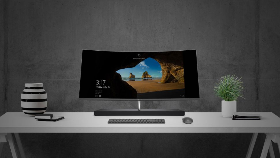 6. HP Envy Curved All-in-One