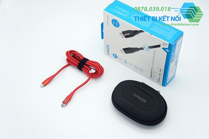 Cáp sạc iPhone Type C to Lightning Anker PowerLine+ II A8652 dài 0,9m - 1,8m
