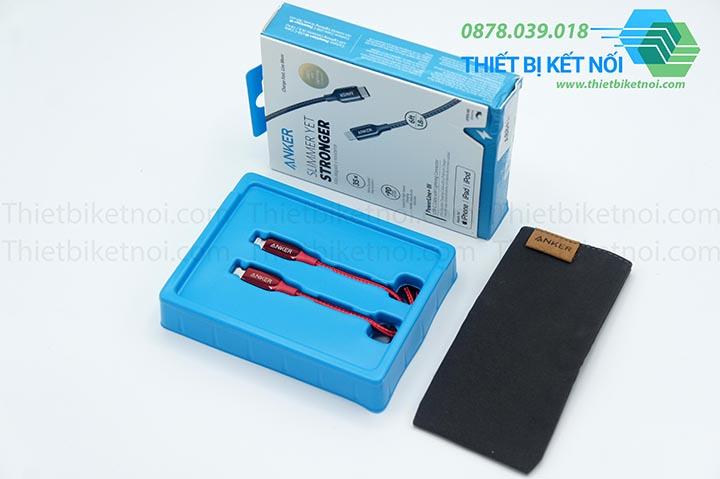 Cáp sạc nhanh iPhone Type C Anker PowerLine+ III A8842 0,9m A8843 1,8m