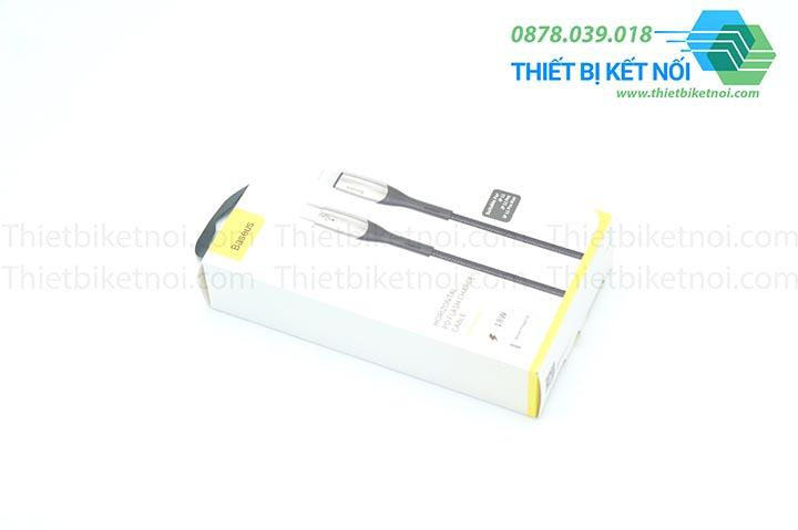 Cáp sạc nhanh iPhone Type C to Lightning 18W Baseus Horizontal Data PD