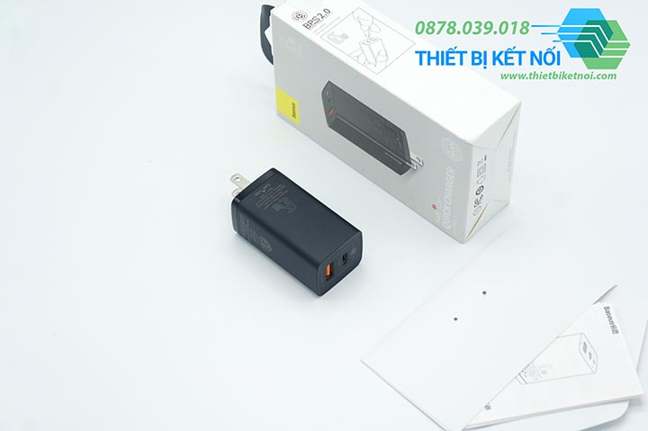 Cục sạc nhanh Type C Baseus GaN2 Lite Quick Charger 65W