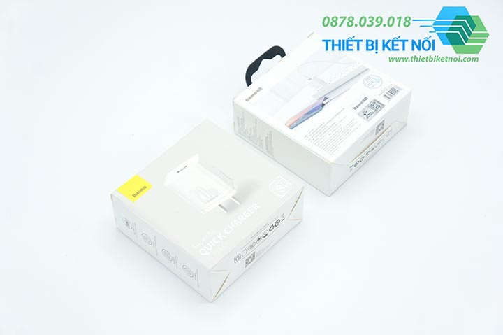 Cục sạc nhanh Type C Baseus Super Si Quick Charger 20W PD QC3.0