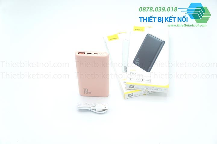 Pin dự phòng sạc nhanh 10000mAh Baseus Bipow PD/QC 18W