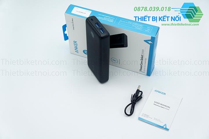 Pin sạc dự phòng 20000 mAh 3A Anker PowerCore Select 20000 - A1363