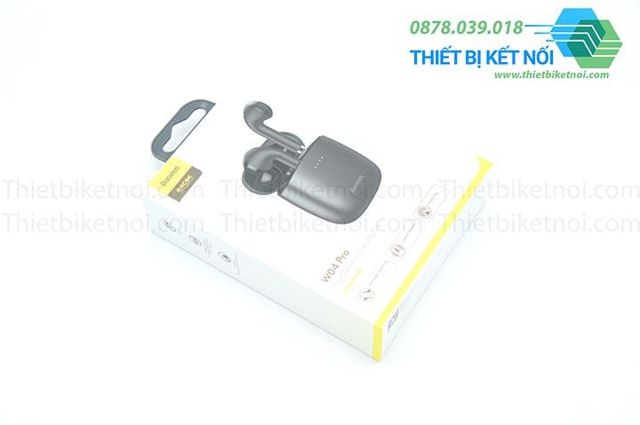 Tai nghe không dây Bluetooth Baseus Encok W04 Pro điều khiển chạm và sạc không dây