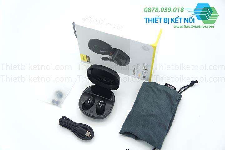 Tai nghe không dây Bluetooth Baseus Encok WM01 Plus hiển thị LED và điều khiển chạm