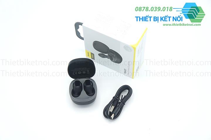 Tai nghe không giây Bluetooth Baseus Encok WM01 hỗ trợ điều khiển chạm
