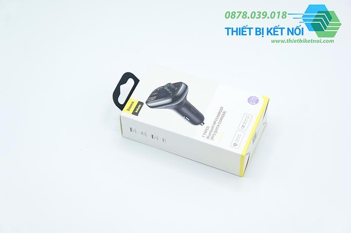 Tẩu sạc nhanh ô tô Baseus S-13 Wireless MP3 tích hợp Bluetooth
