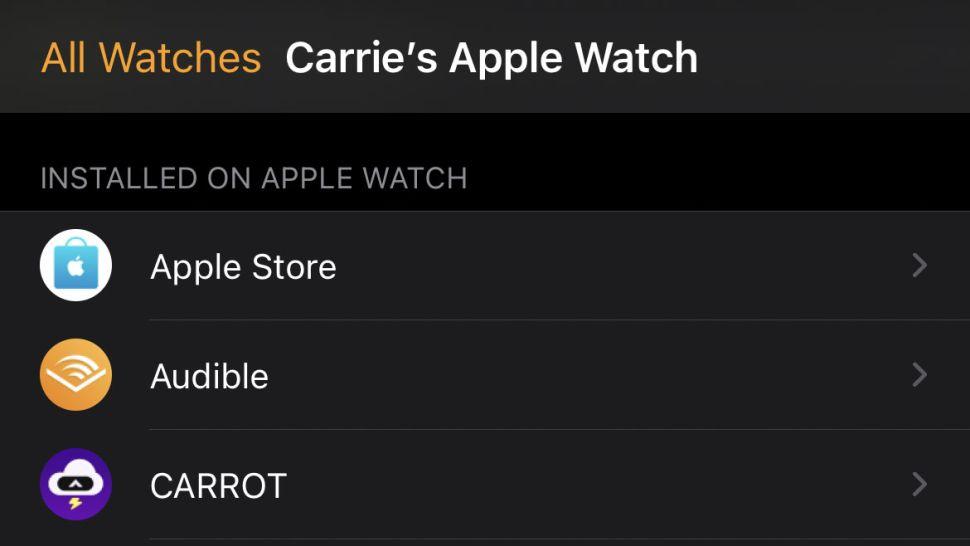 hiển thị tất cả các ứng dụng hiện có trên Apple Watch