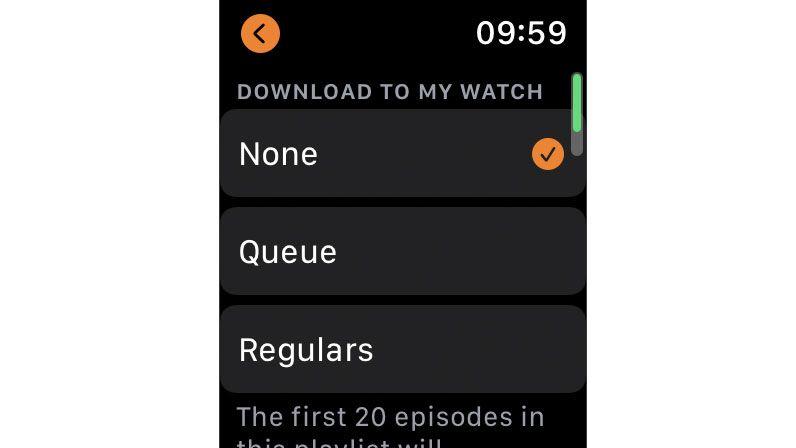 điều chỉnh chính xác nội dung mà Đồng hồ của bạn tải xuống