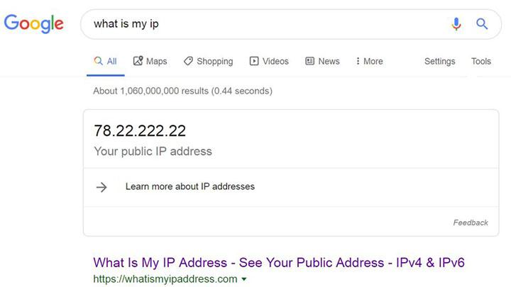 Cách tìm địa chỉ IP